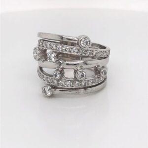 18ct Gold Diamond Multiband Ring £3220.00