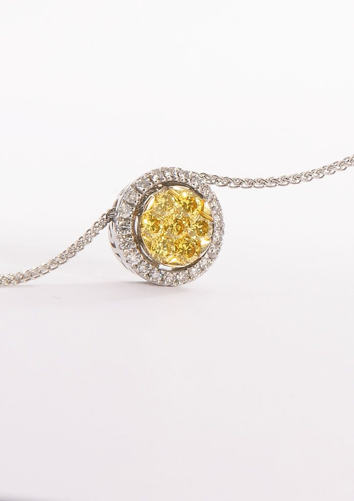 18ct Gold White and Fancy Yellow Diamond £3480.00