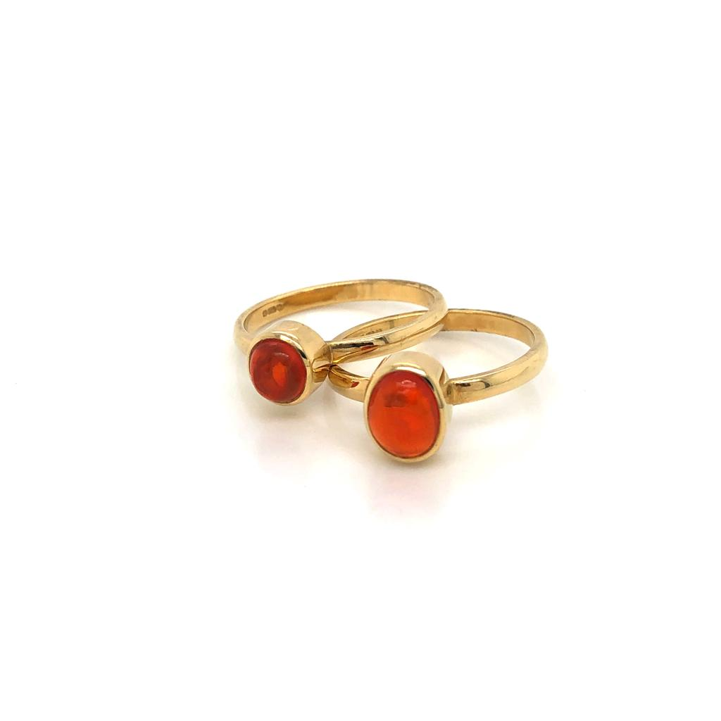 18ct Gold and Fire Opal Rings £1050.00 and £995.00